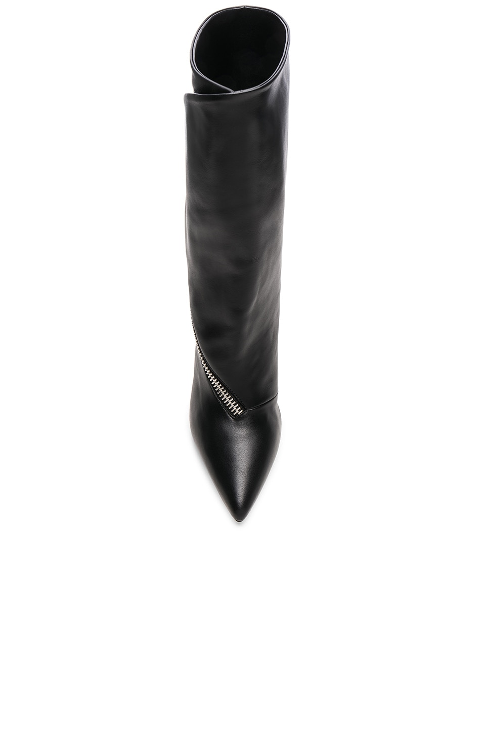 Image 4 of Givenchy Zip Leather Boots in Black