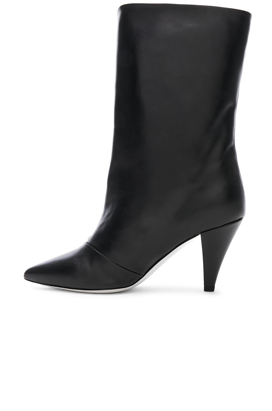 Image 5 of Givenchy Zip Leather Boots in Black