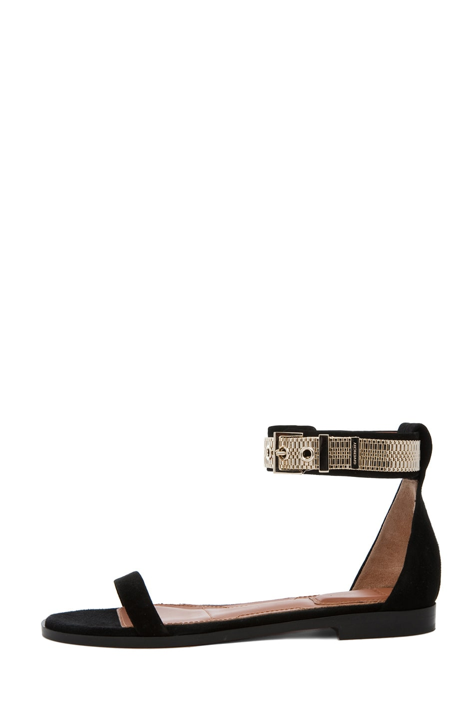 Image 1 of GIVENCHY Robertha Suede Chain Sandal in Black