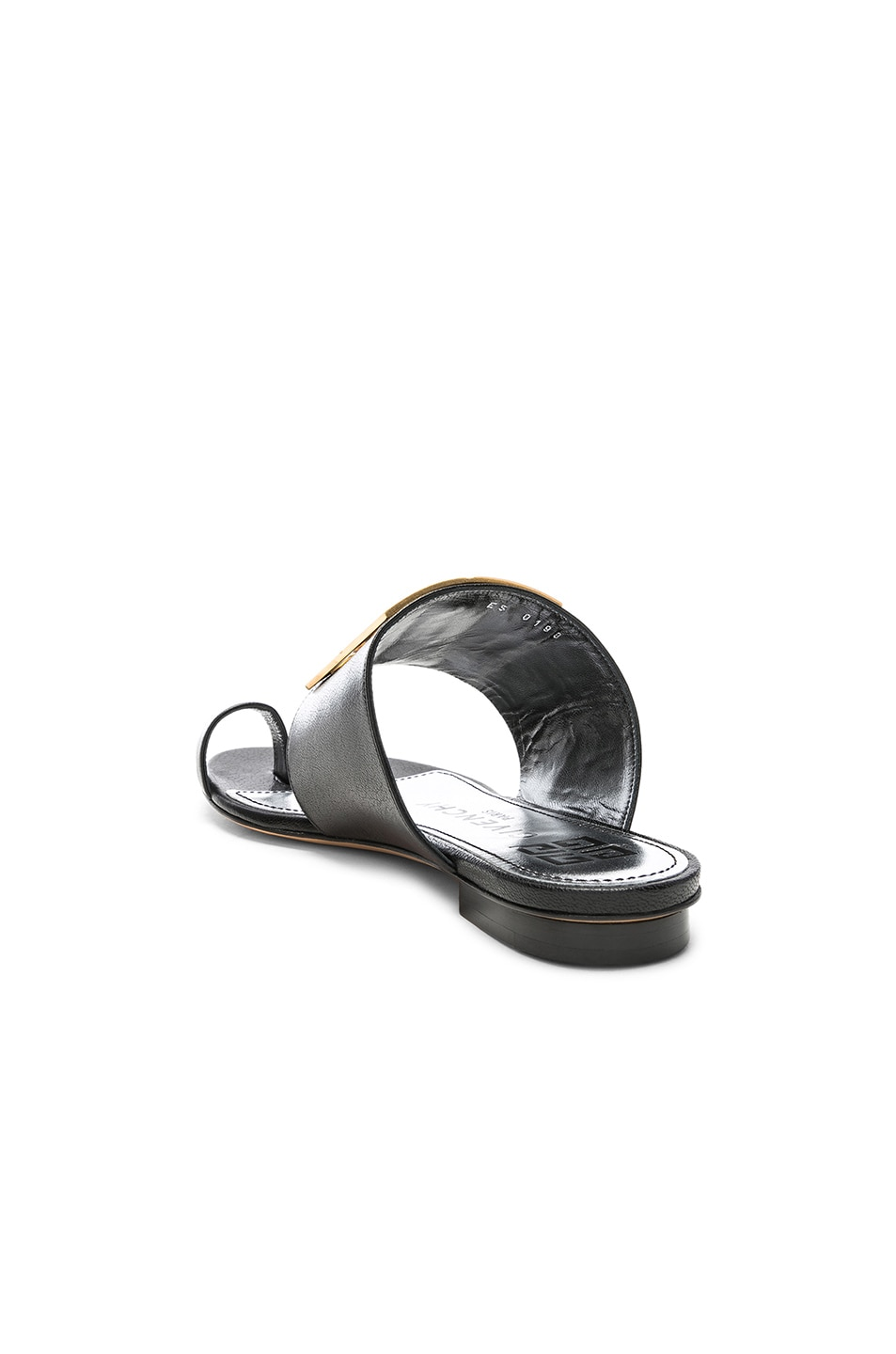 Image 4 of Givenchy Logo Flat Sandals in Black