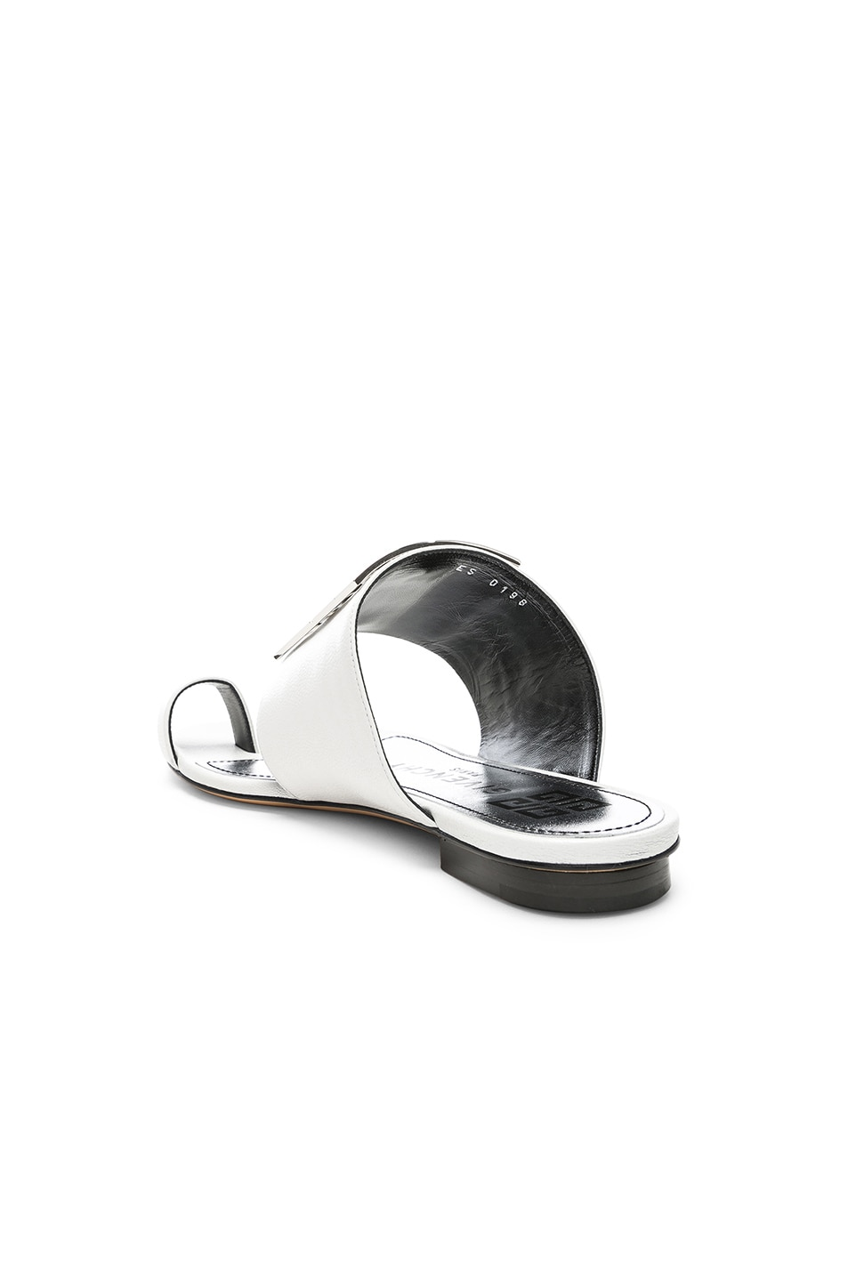 Image 4 of Givenchy Logo Flat Sandals in White