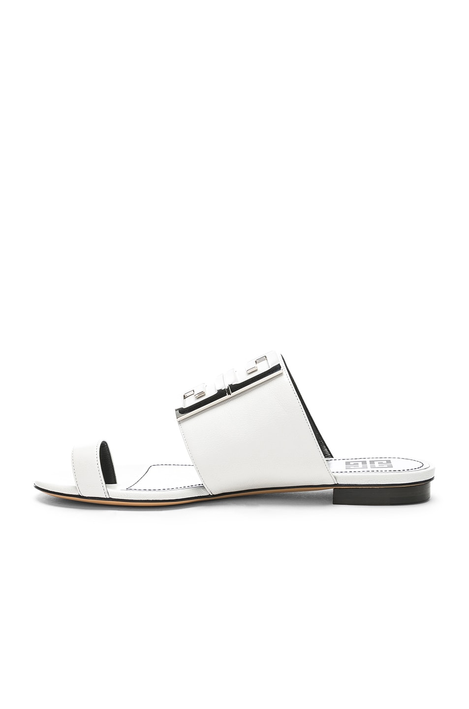 Image 5 of Givenchy Logo Flat Sandals in White