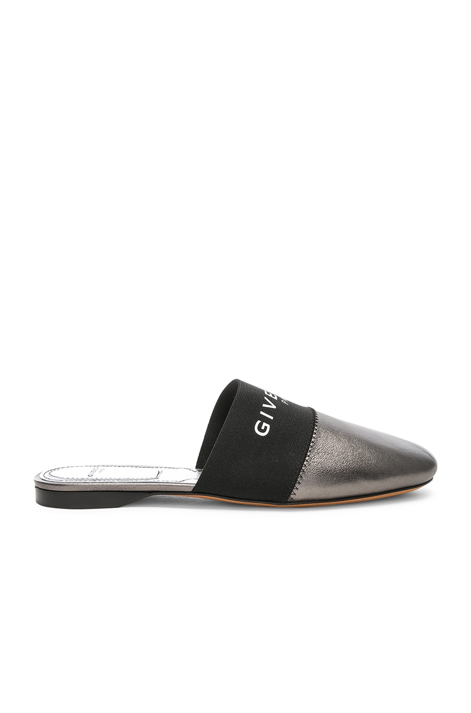 Image 1 of Givenchy Bedford Flat Mules in Gunmetal