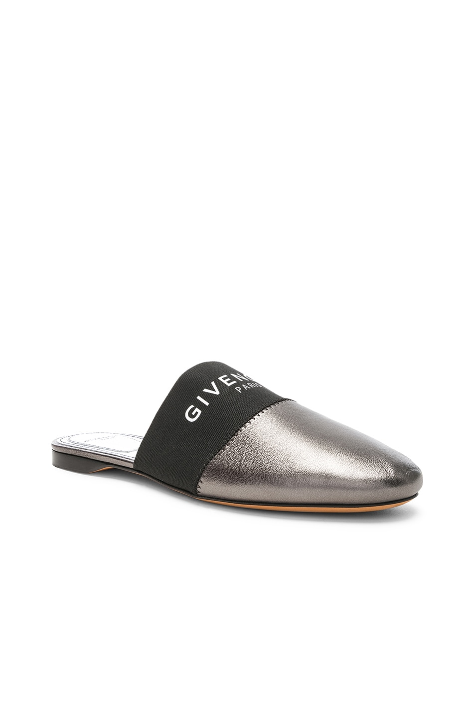 Image 2 of Givenchy Bedford Flat Mules in Gunmetal