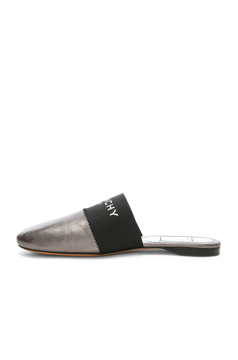 Image 5 of Givenchy Bedford Flat Mules in Gunmetal
