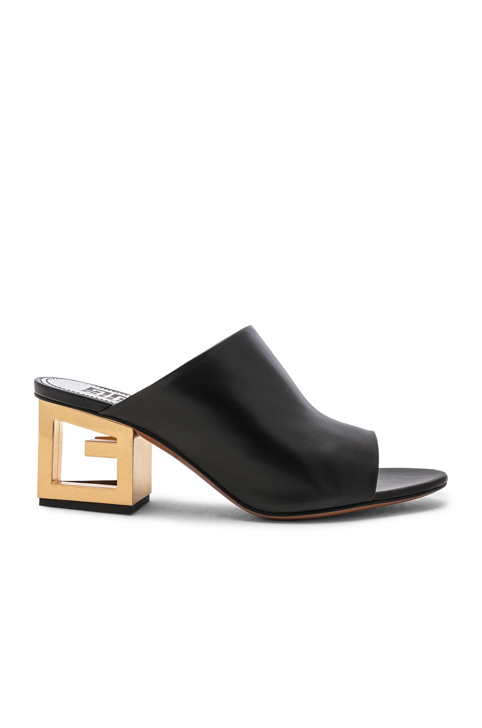 Image 1 of Givenchy Triangle Heel Mule in Black