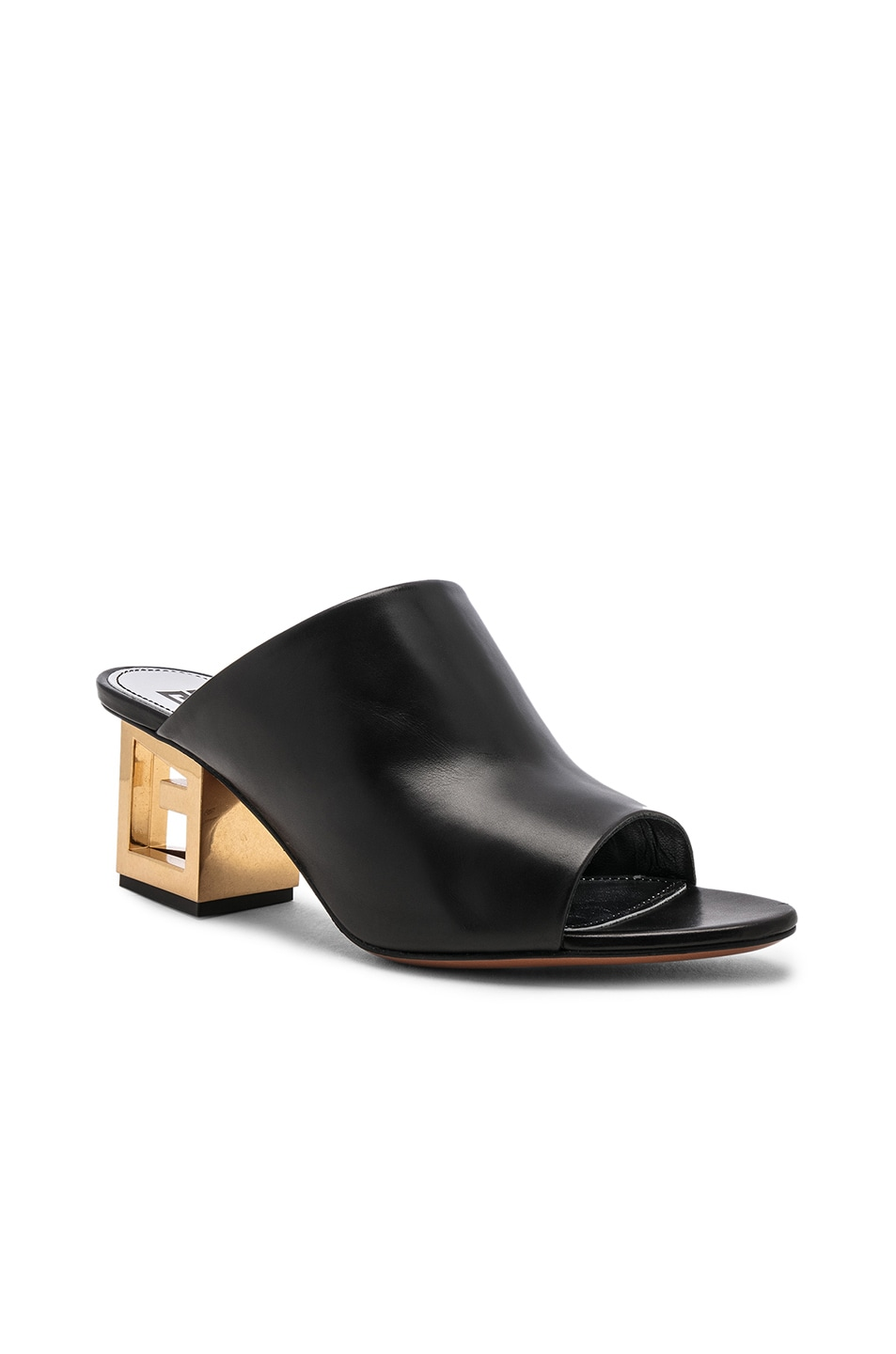 Image 2 of Givenchy Triangle Heel Mule in Black