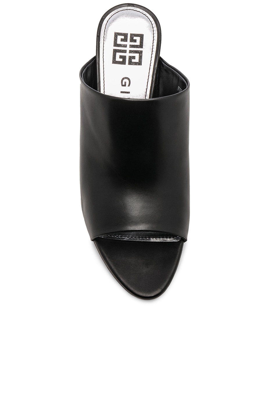 Image 4 of Givenchy Triangle Heel Mule in Black
