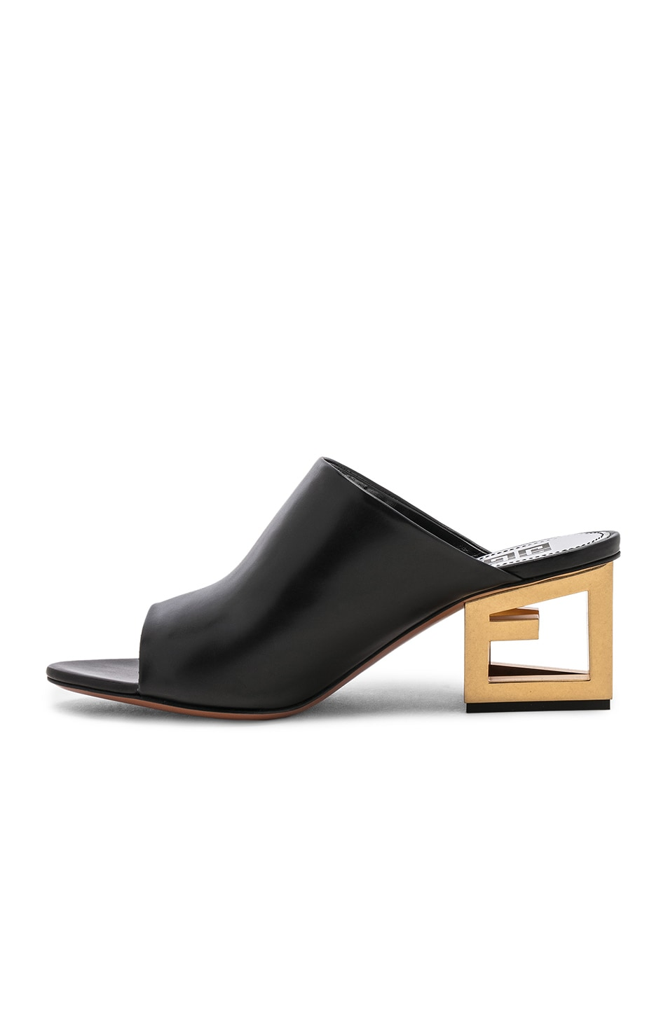 Image 5 of Givenchy Triangle Heel Mule in Black