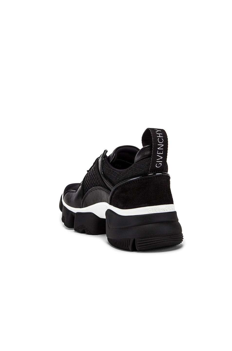 Image 3 of Givenchy Jaw Low Sneakers in Black & White