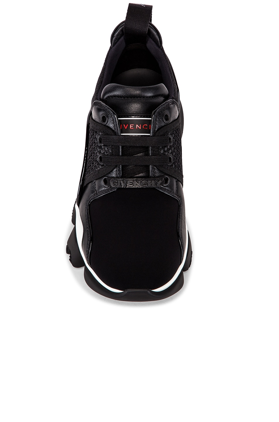 Image 4 of Givenchy Jaw Low Sneakers in Black & White