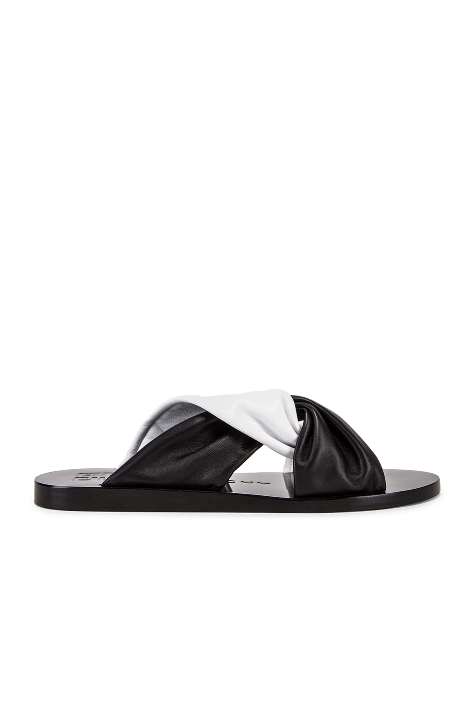 Image 1 of Givenchy Tie Flat Sandals in Black & White
