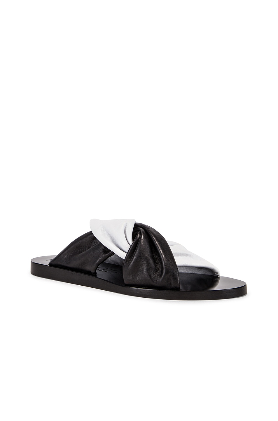 Image 2 of Givenchy Tie Flat Sandals in Black & White