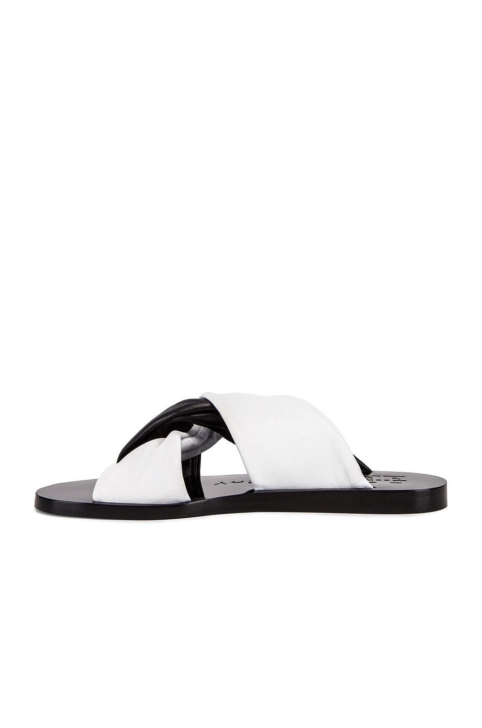 Image 5 of Givenchy Tie Flat Sandals in Black & White
