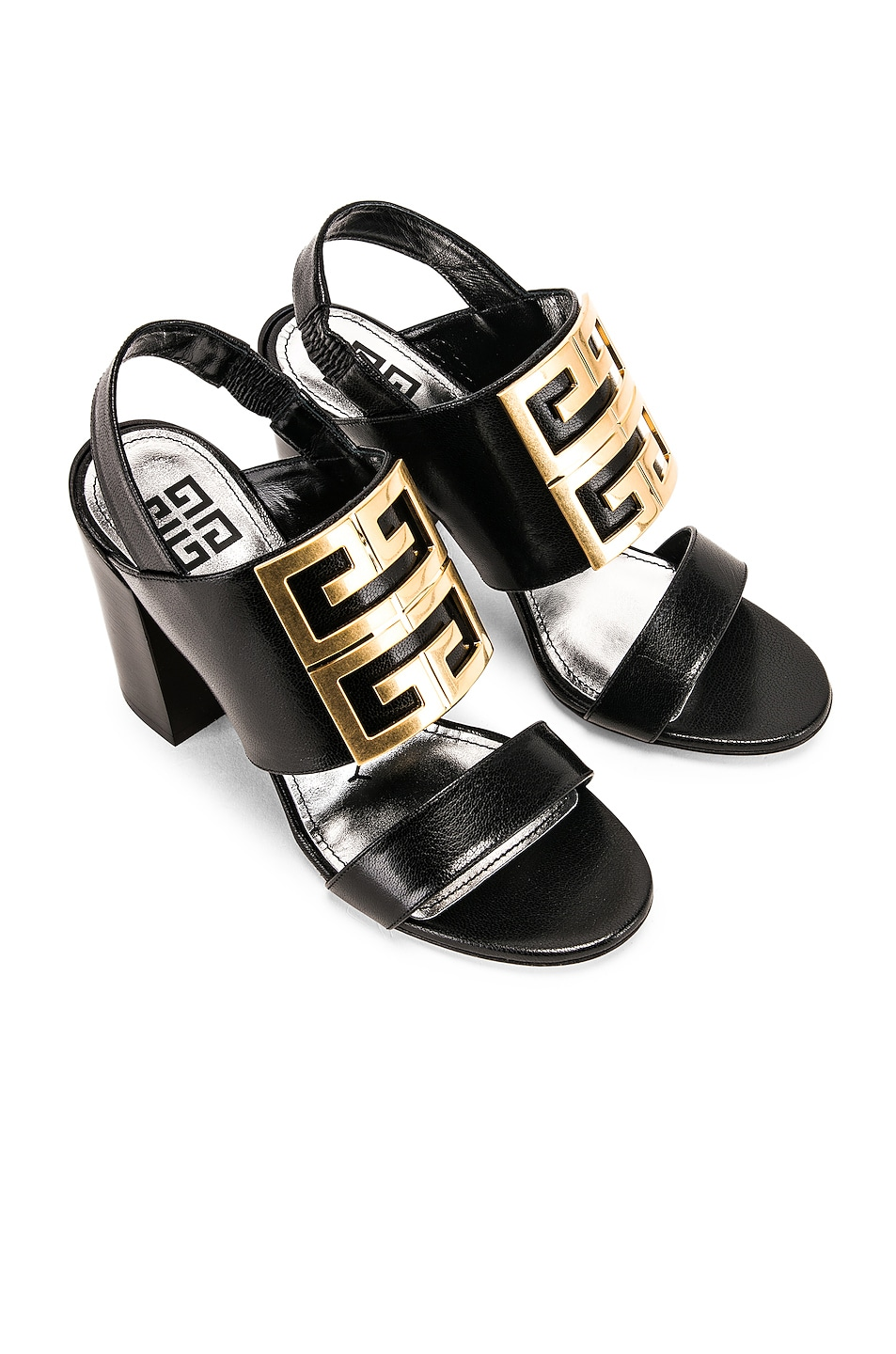 Image 1 of Givenchy Slingback Logo Sandal in Black