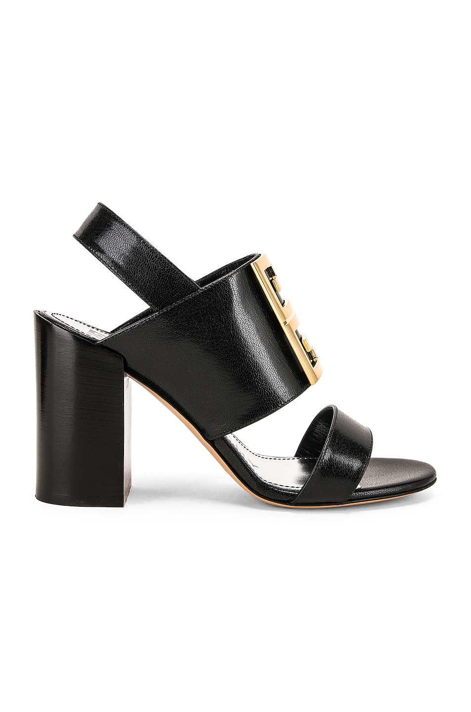 Image 2 of Givenchy Slingback Logo Sandal in Black