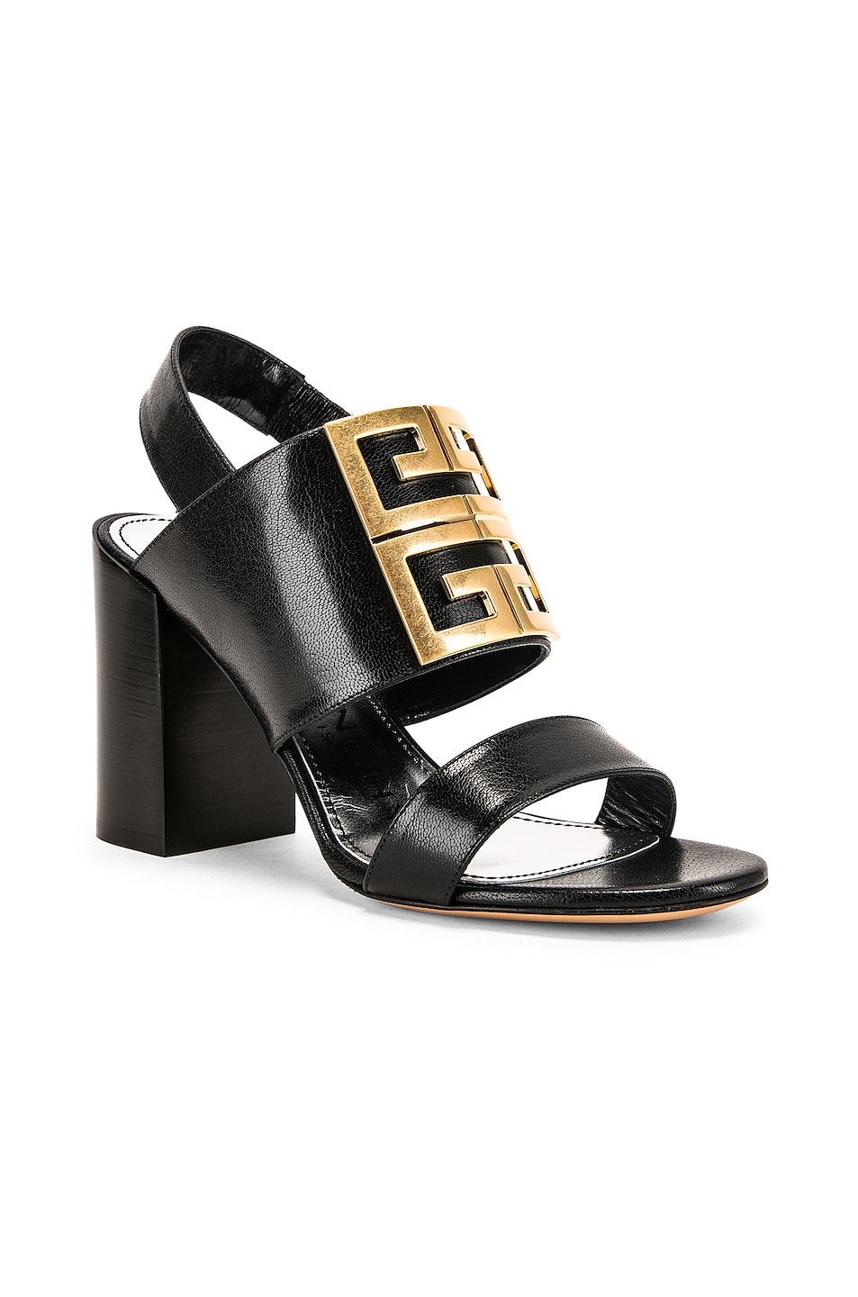 Image 3 of Givenchy Slingback Logo Sandal in Black