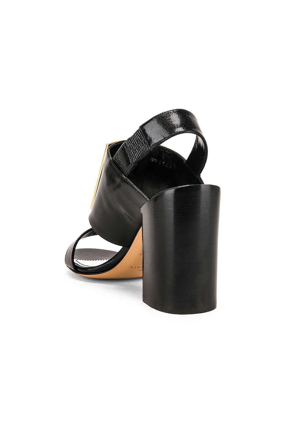 Image 4 of Givenchy Slingback Logo Sandal in Black