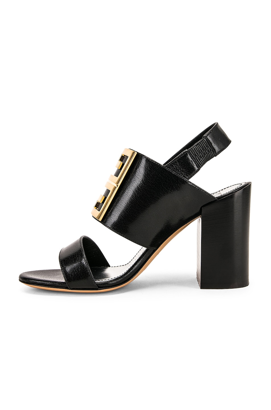 Image 5 of Givenchy Slingback Logo Sandal in Black