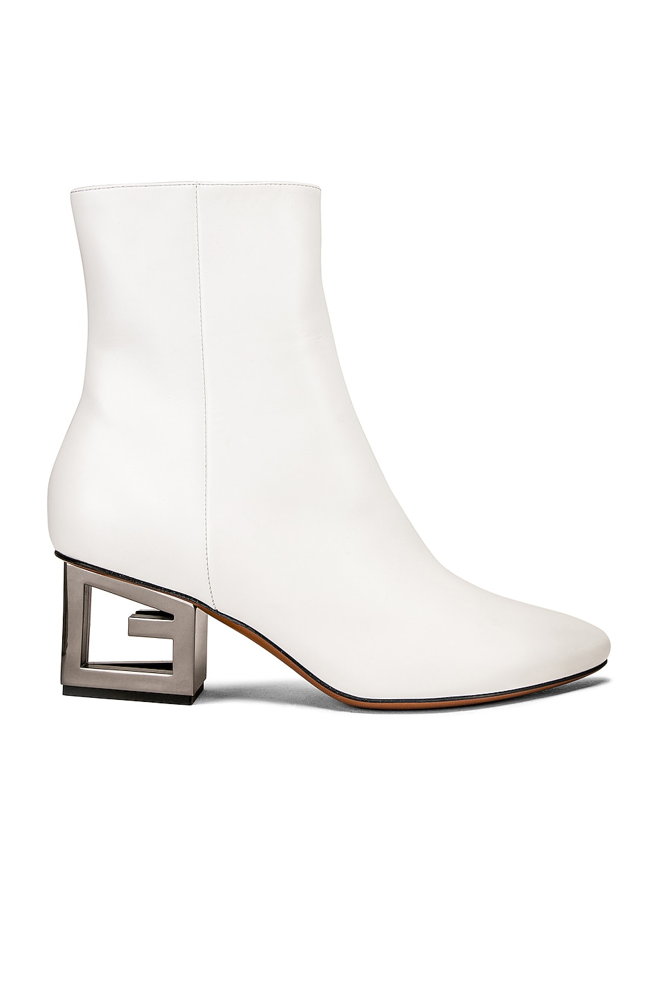 Image 1 of Givenchy Triangle Heel Ankle Boot in Ivory