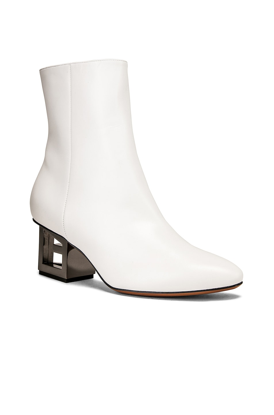 Image 2 of Givenchy Triangle Heel Ankle Boot in Ivory
