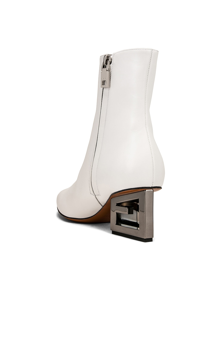 Image 3 of Givenchy Triangle Heel Ankle Boot in Ivory