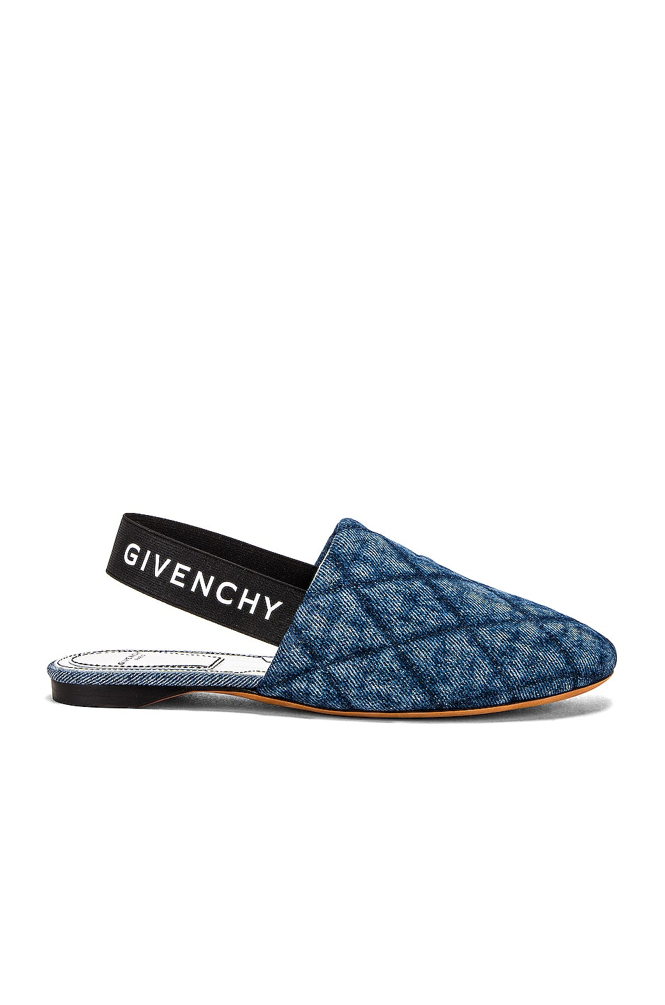 Image 1 of Givenchy Rivington Sling Back Flat in Blue Denim