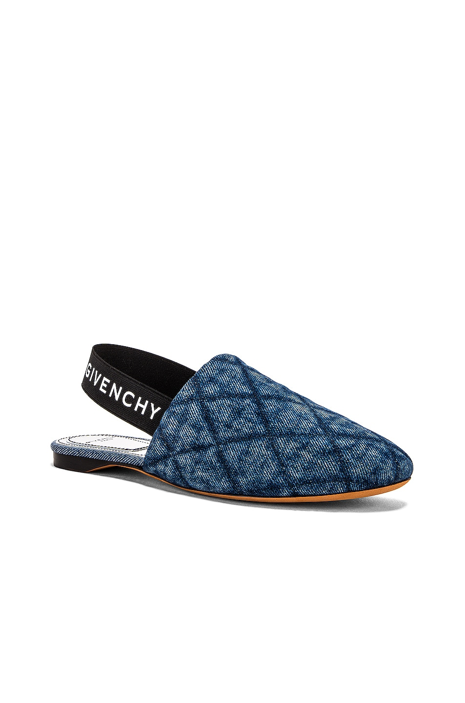 Image 2 of Givenchy Rivington Sling Back Flat in Blue Denim