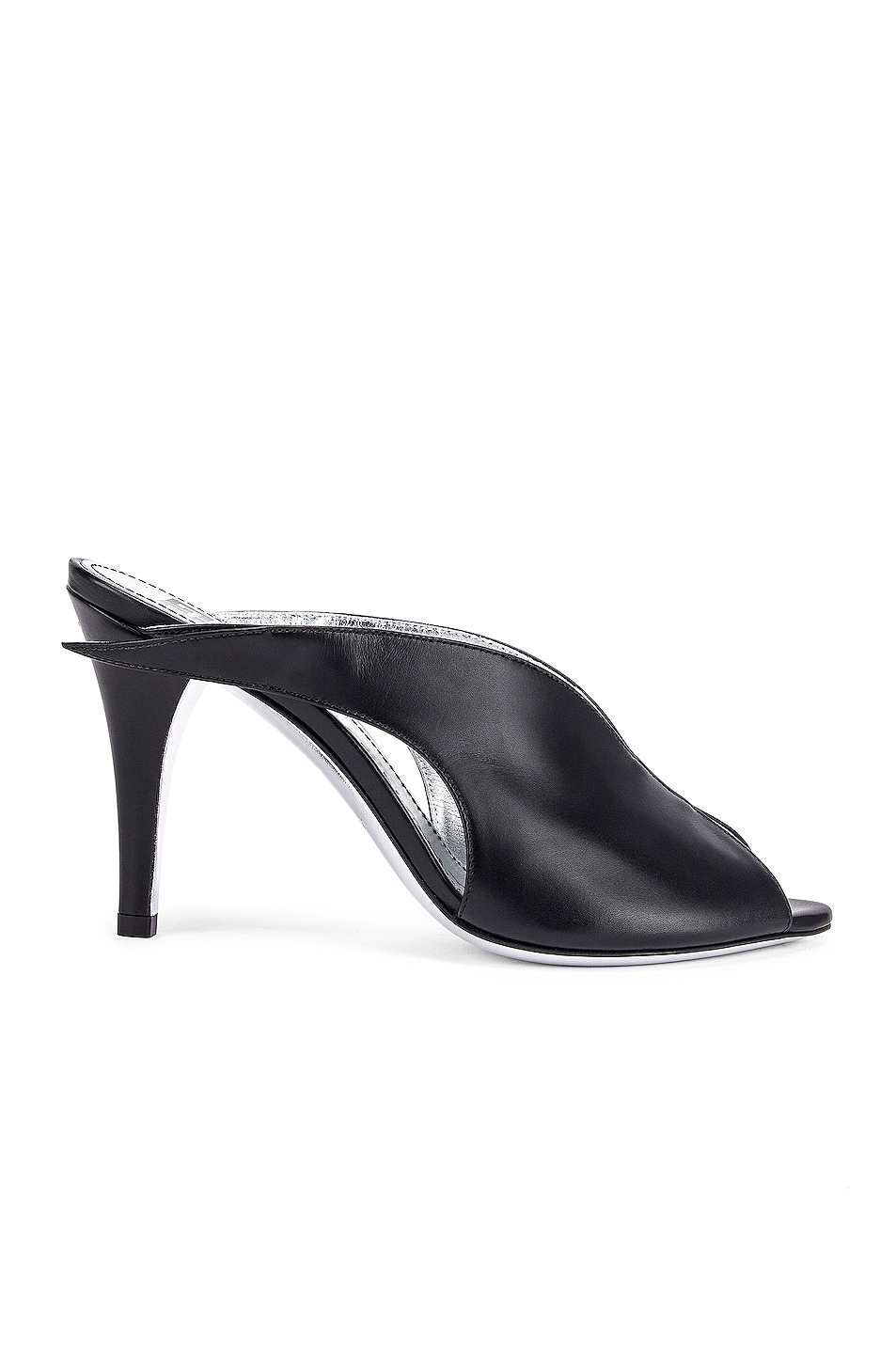 Image 1 of Givenchy Wing Heel Mules in Black
