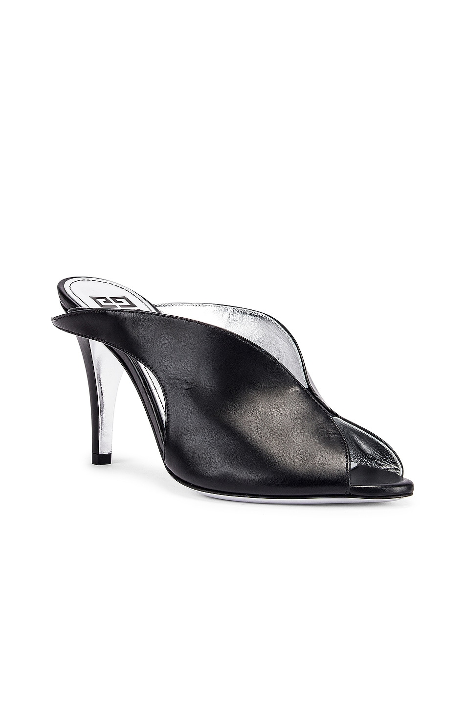 Image 2 of Givenchy Wing Heel Mules in Black