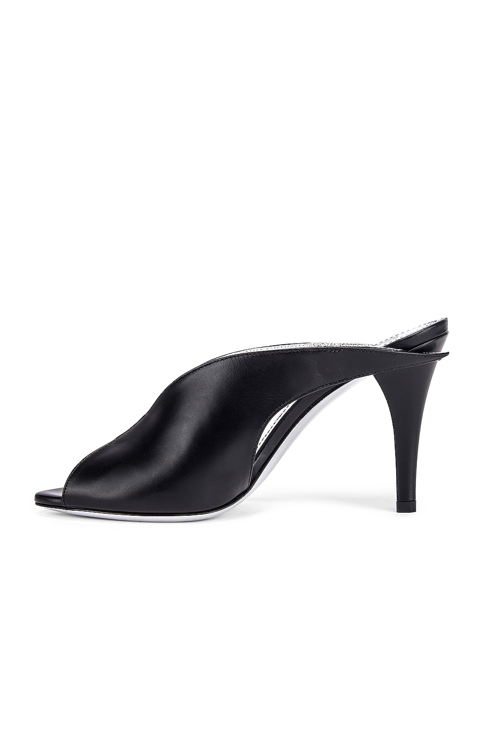 Image 5 of Givenchy Wing Heel Mules in Black