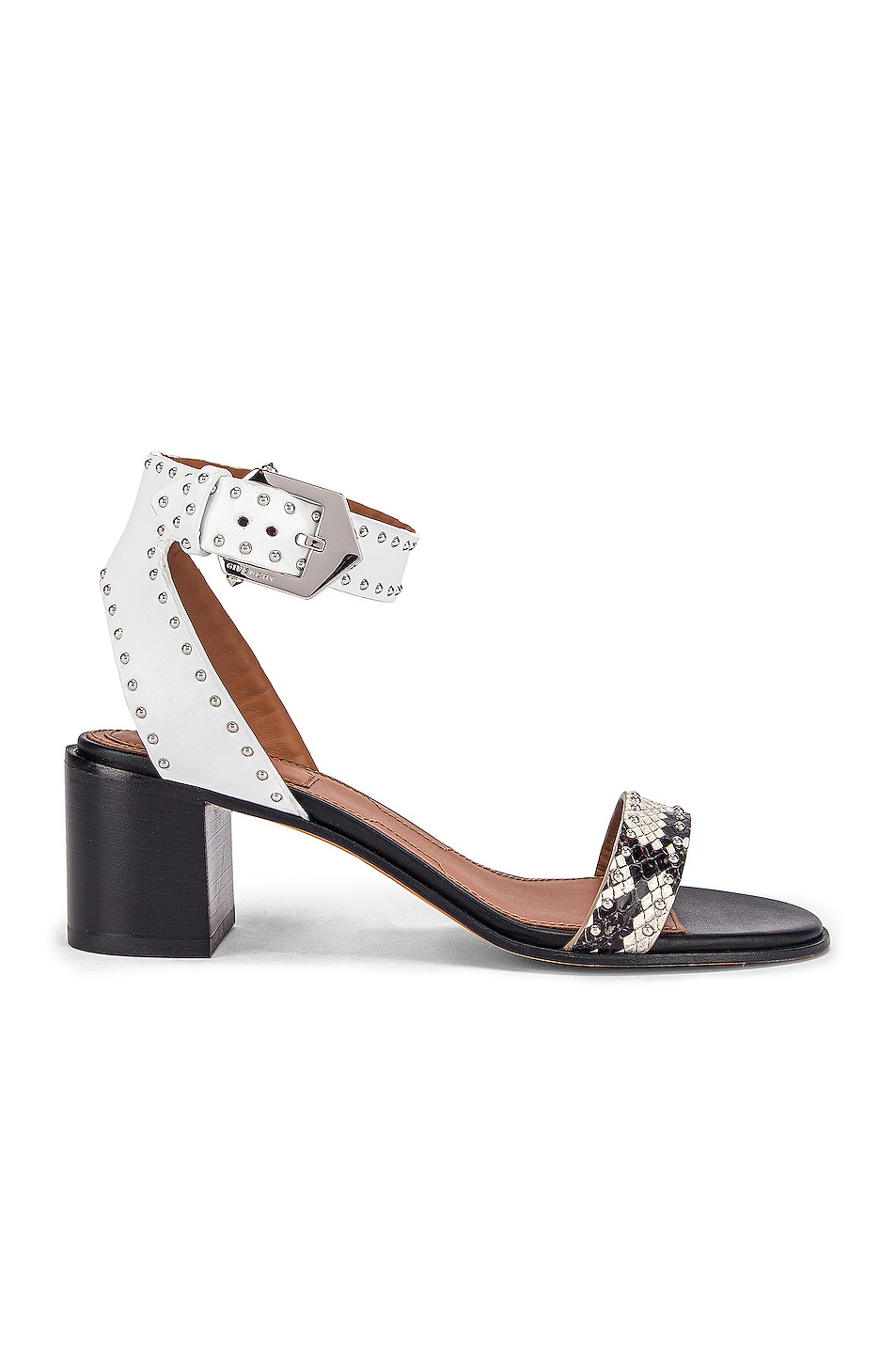 Image 1 of Givenchy Elegant Studs Heel Sandals in Black & White