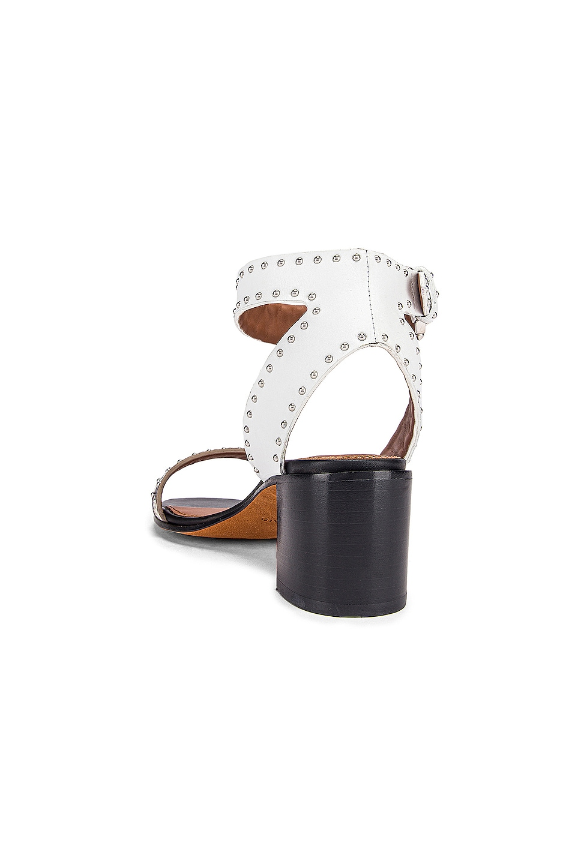 Image 3 of Givenchy Elegant Studs Heel Sandals in Black & White