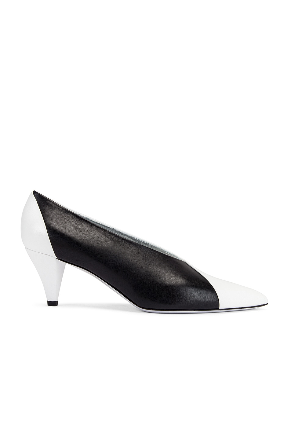 Image 1 of Givenchy Soft Two Tone Heels in Black & White