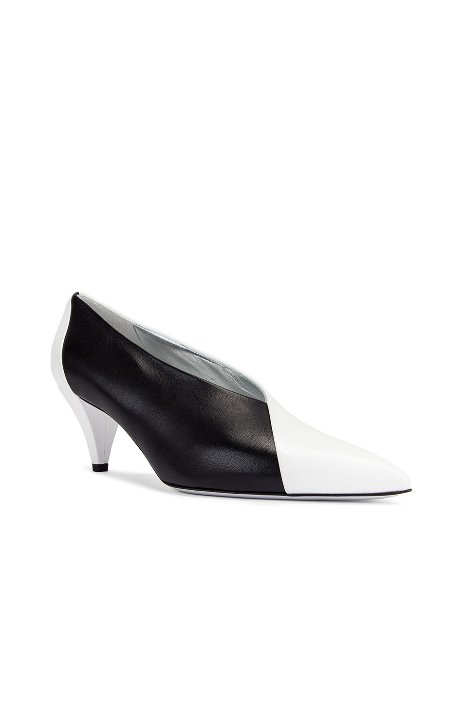 Image 2 of Givenchy Soft Two Tone Heels in Black & White