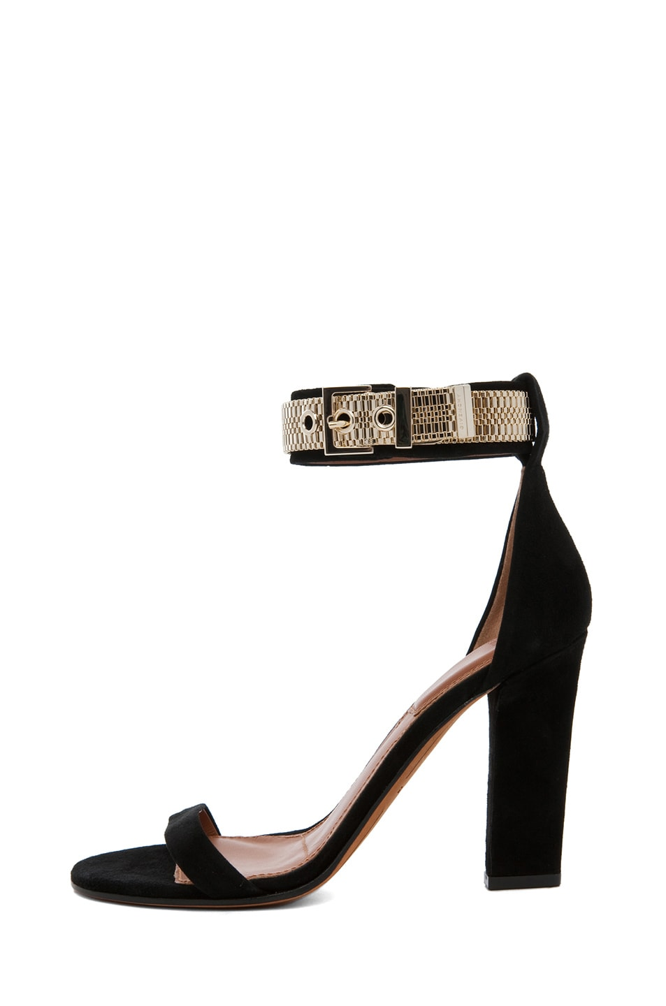 Image 1 of GIVENCHY Giuliana Suede Chain Heels in Black