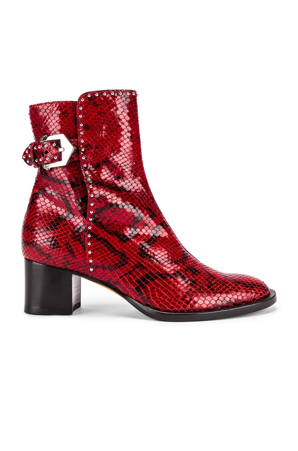 Image 1 of Givenchy Elegant Heel Ankle Boots in Red