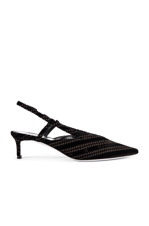 Image 1 of Givenchy 3V Slingback Sandals in Black