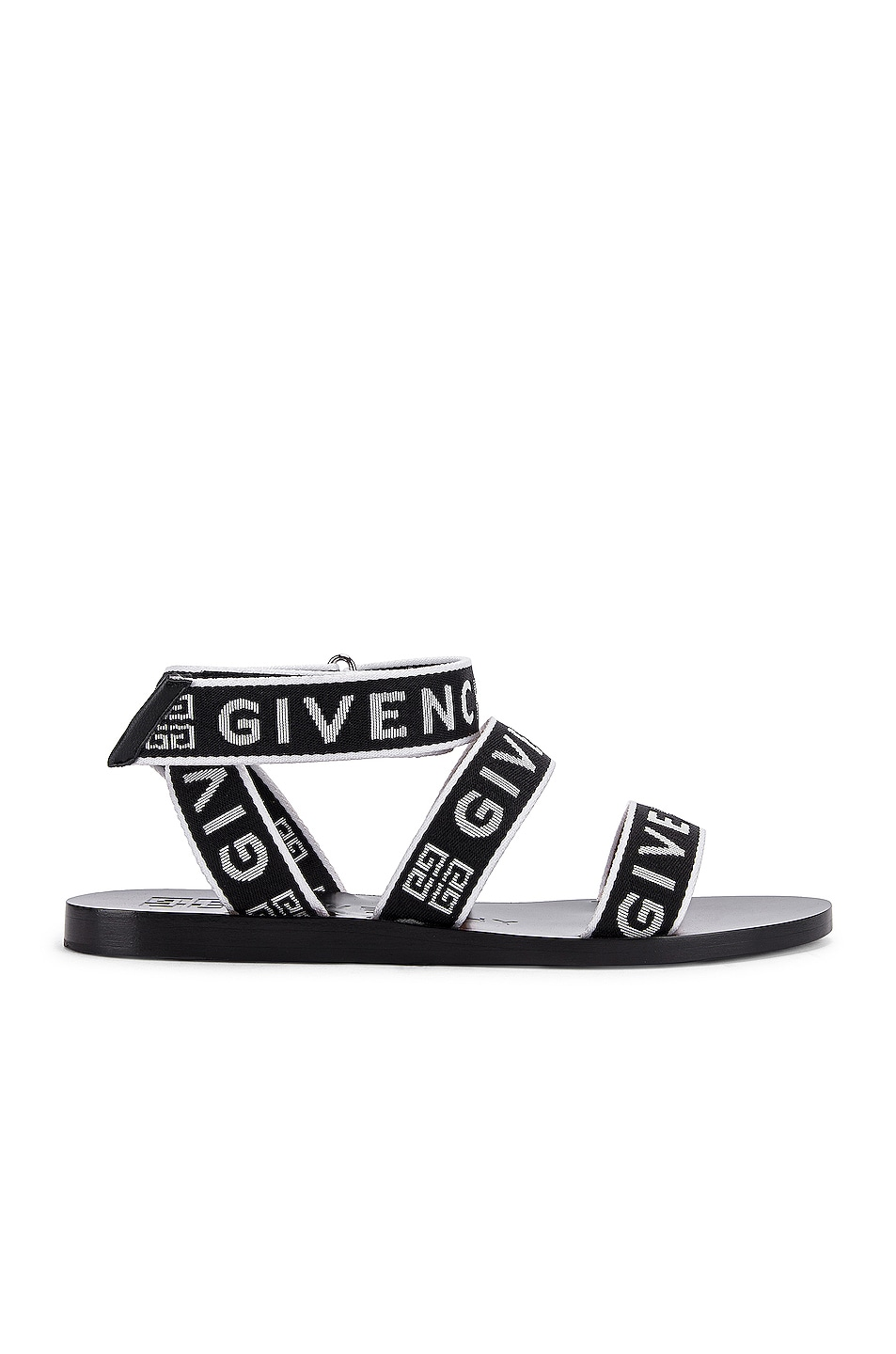 Image 1 of Givenchy Ankle Strap Sandals in Black & White