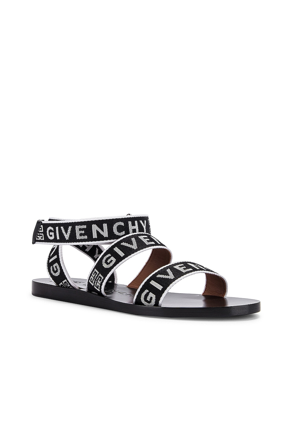 Image 2 of Givenchy Ankle Strap Sandals in Black & White