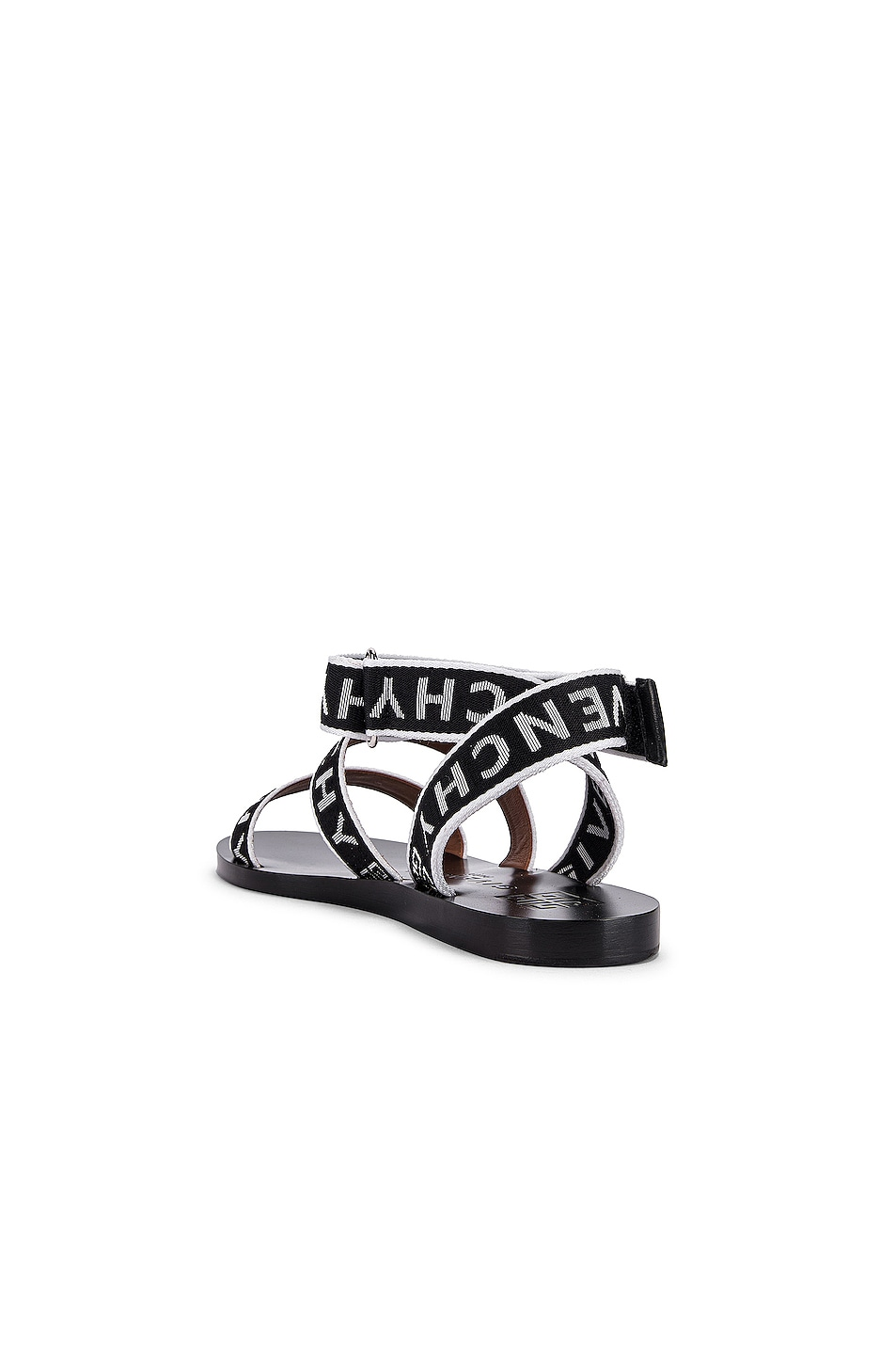 Image 3 of Givenchy Ankle Strap Sandals in Black & White
