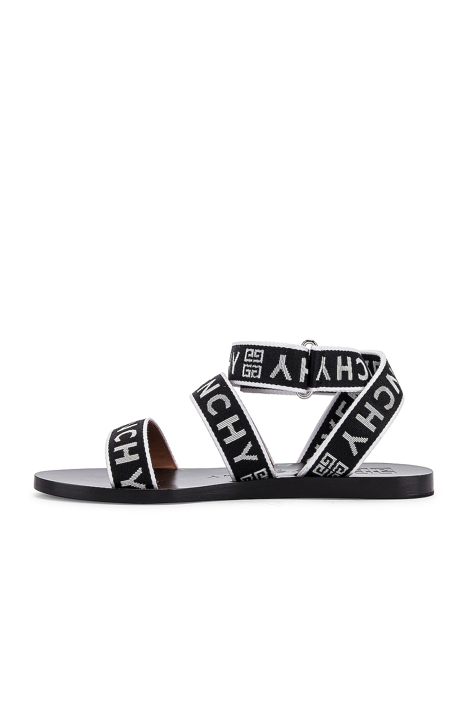Image 5 of Givenchy Ankle Strap Sandals in Black & White