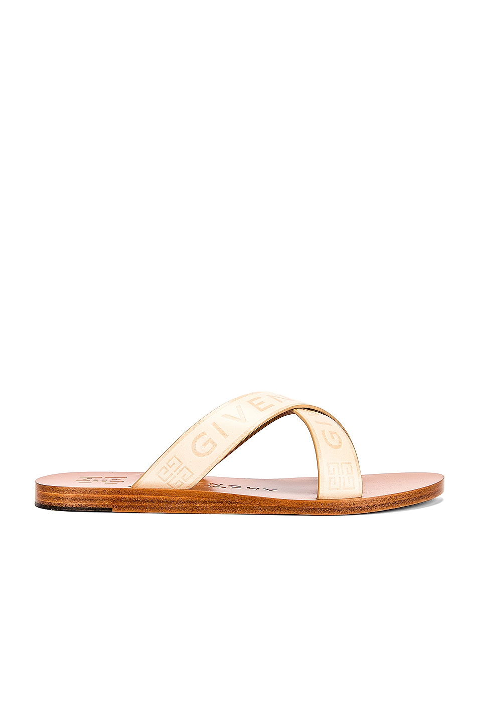 Image 1 of Givenchy Strap Criss Cross Flat Sandals in Desert