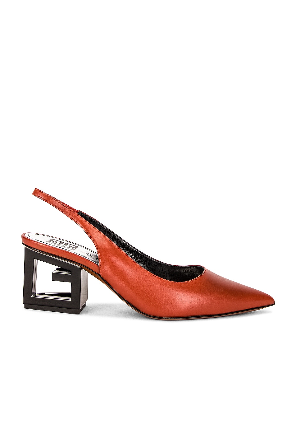 Image 1 of Givenchy Triangle Slingback Pumps in Terracotta