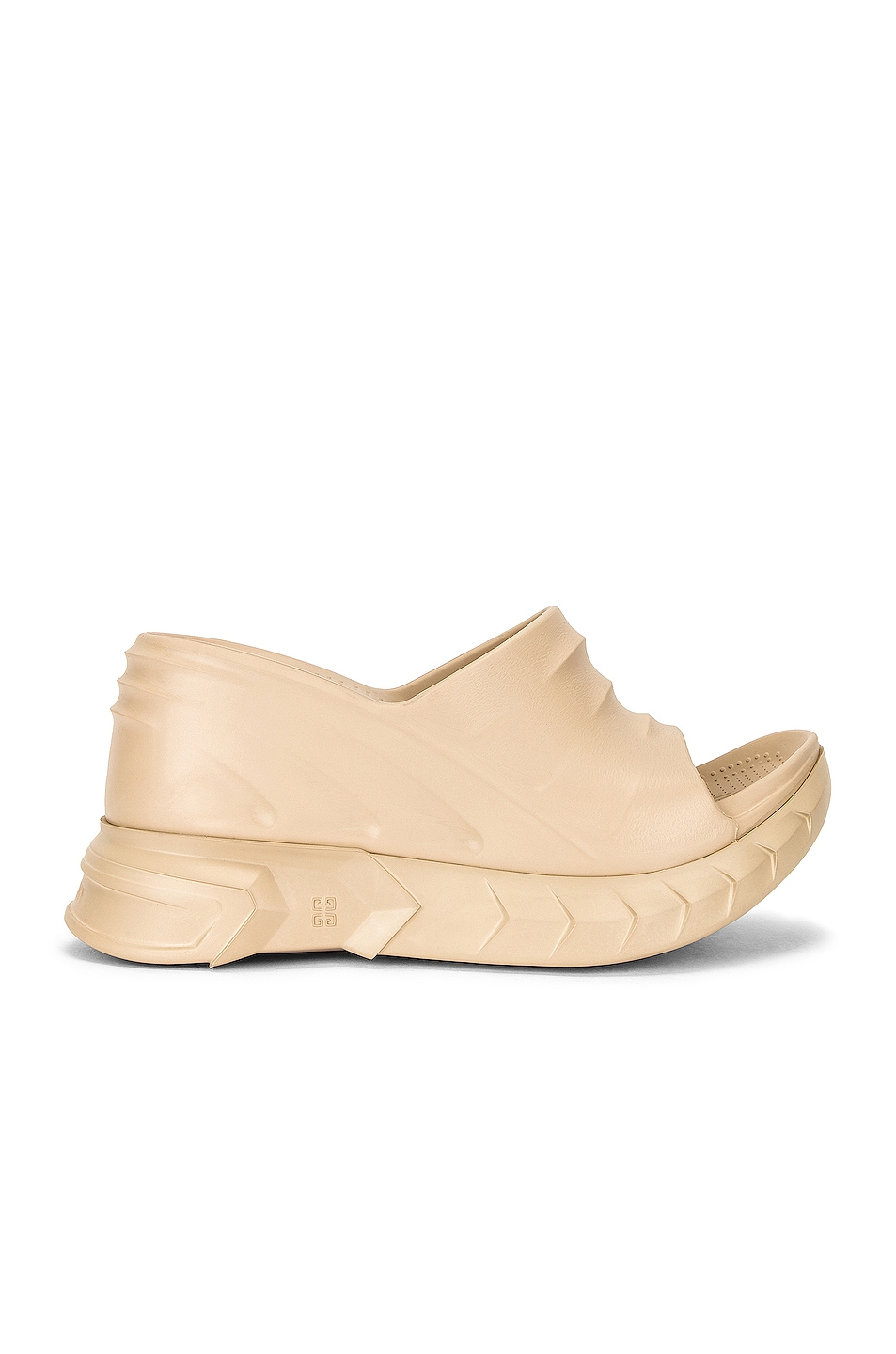 Image 1 of Givenchy Marshmallow Slider Wedge Sandals in Sand