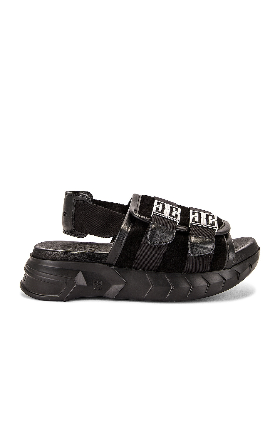 Image 1 of Givenchy Marshmallow Slingback Sandals in Black