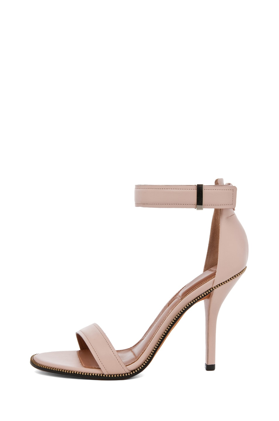 Image 1 of Givenchy Giuliana Leather Zip Around Heels in Nude