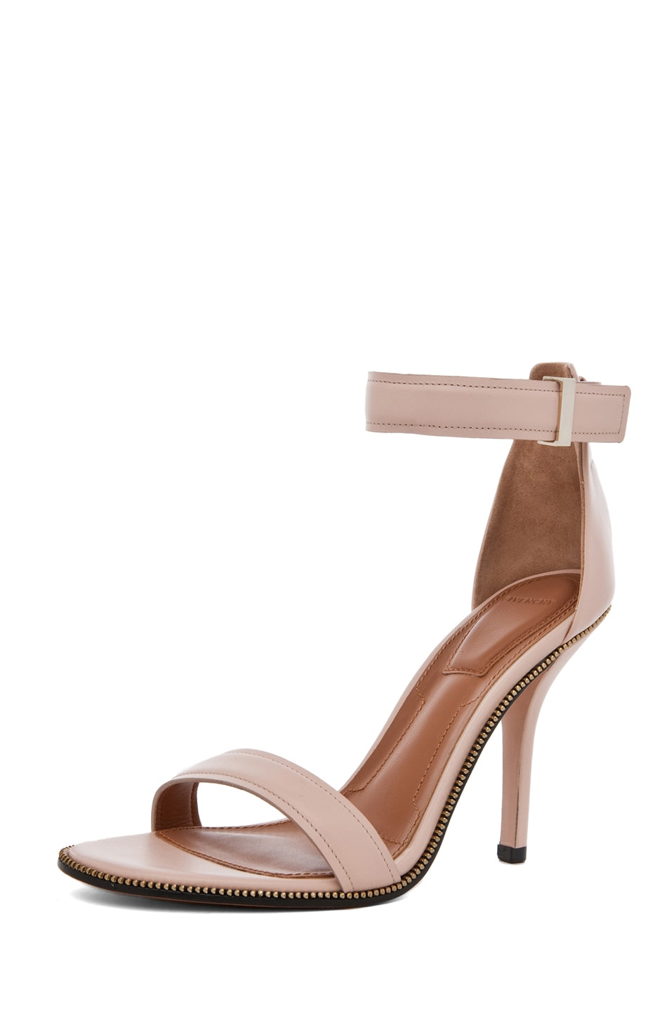 Image 2 of Givenchy Giuliana Leather Zip Around Heels in Nude