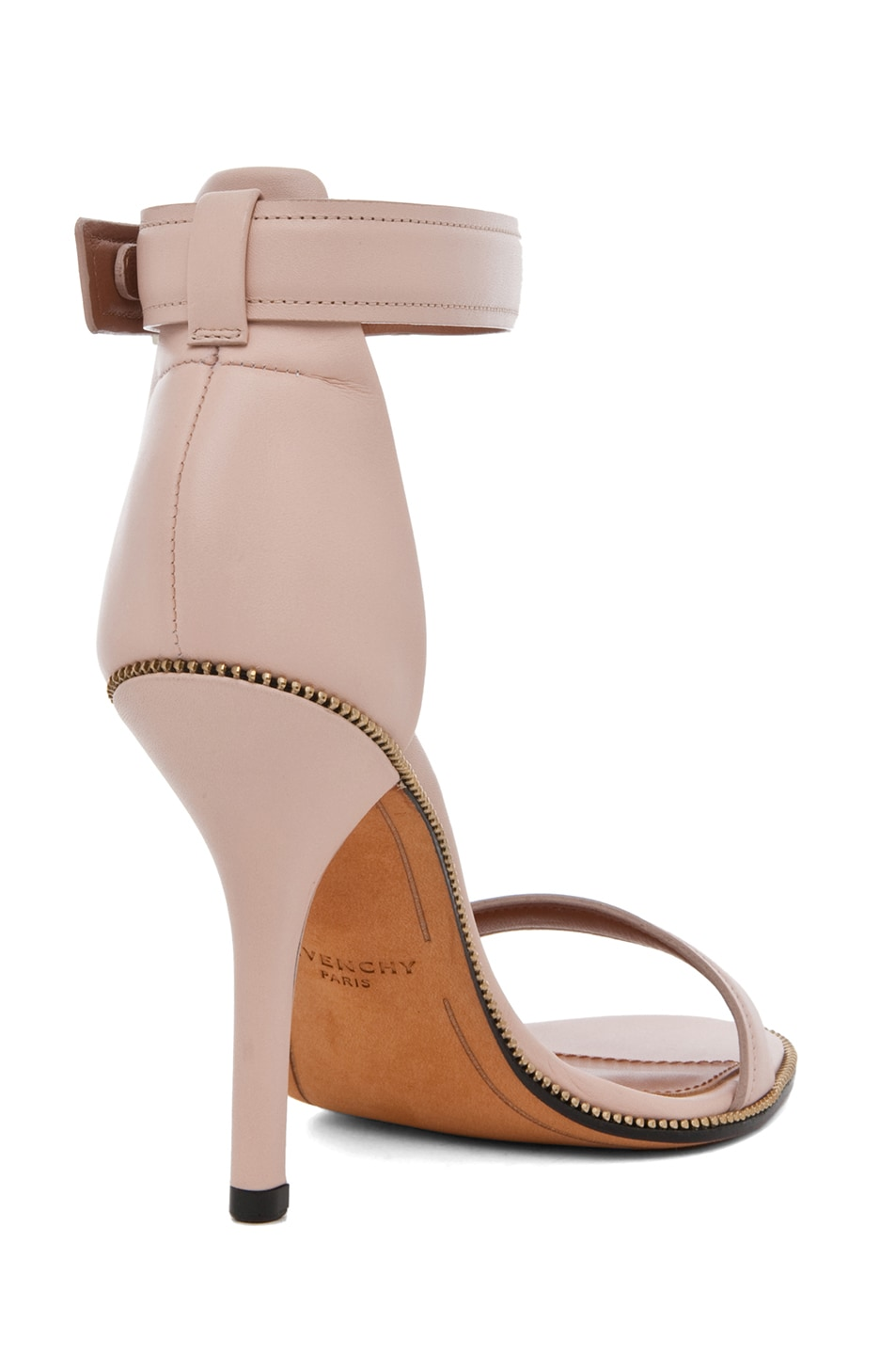 Image 3 of Givenchy Giuliana Leather Zip Around Heels in Nude