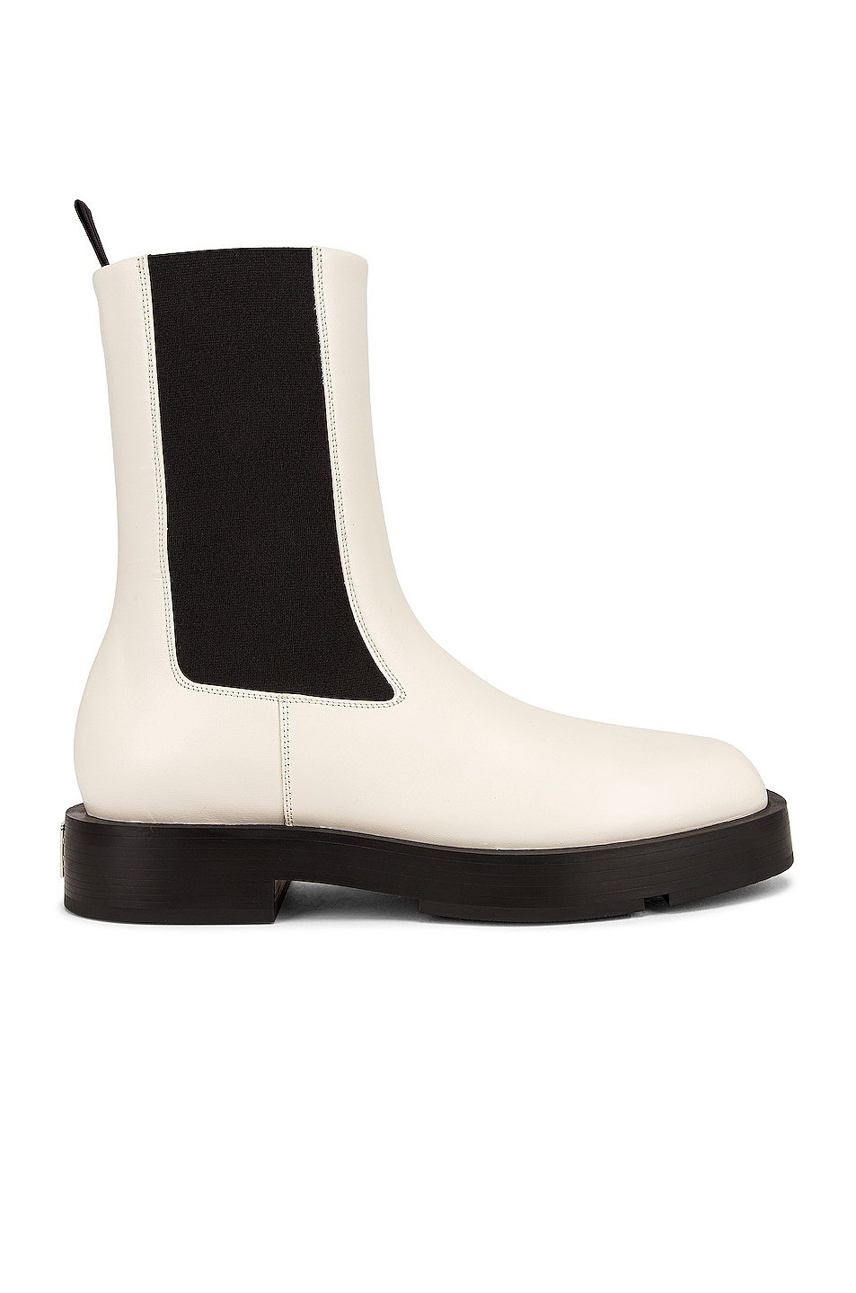 Image 1 of Givenchy Squared Chelsea Ankle Boots in Ivory